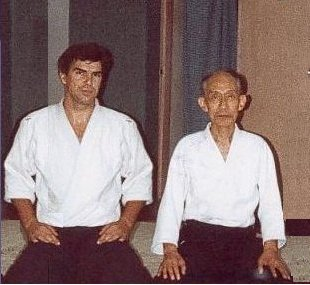 2nd Doshu Kishomaru UESHIBA and Paul 1986